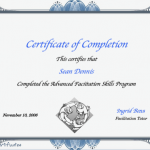 Certificate - Advanced Facilitation Skills