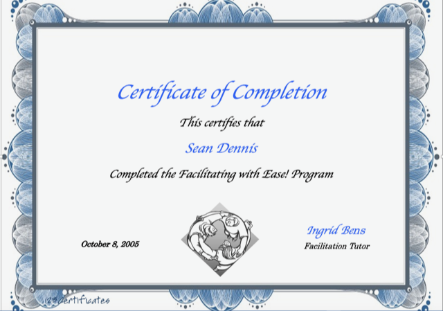 Certificate - Facilitation with Ease