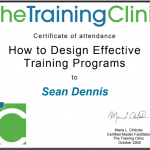 Training Clinic Certificate